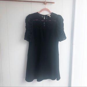 Rebecca Taylor Dresses - Rebecca Taylor Crepe & Corded Lace Dress